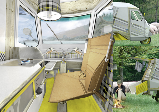 Innovative Camping Scooter Transforms Into a Mobile Home