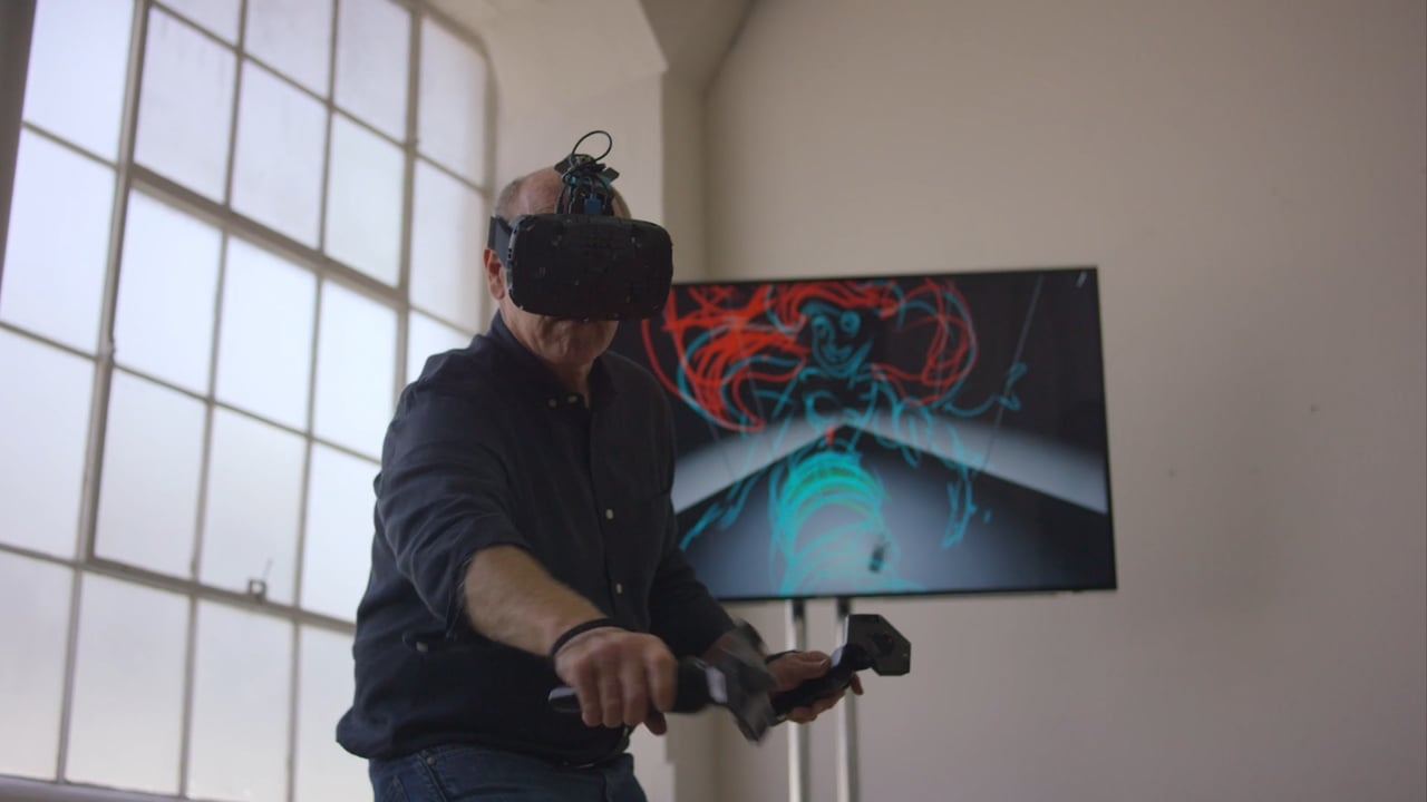 Disney Artist Glen Keane paints in Virtual Reality