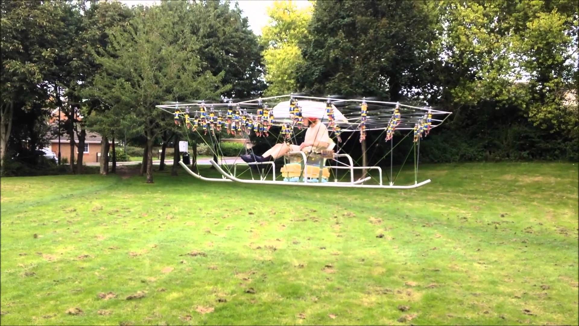 Mad genius creates a crazy drone flying machine using 54 propellers