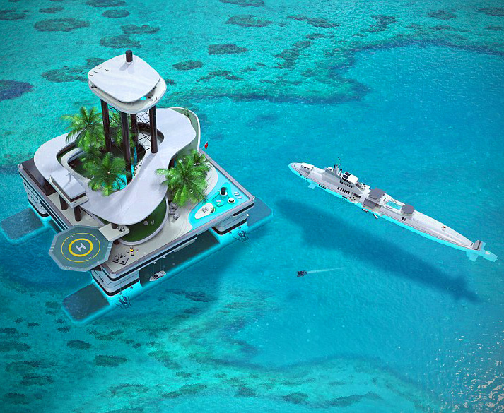 Luxurious Floating Island - Cheap Enough for Billionaires