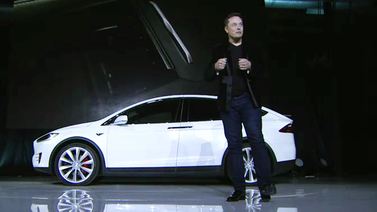Elon Musk Introduces the Tesla X Electric SUV