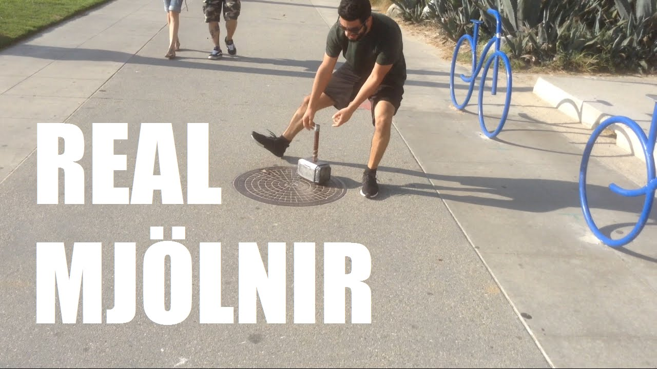 Guy Builds an Electromagnetic Thor Mjölnir Hammer Only He Can Lift