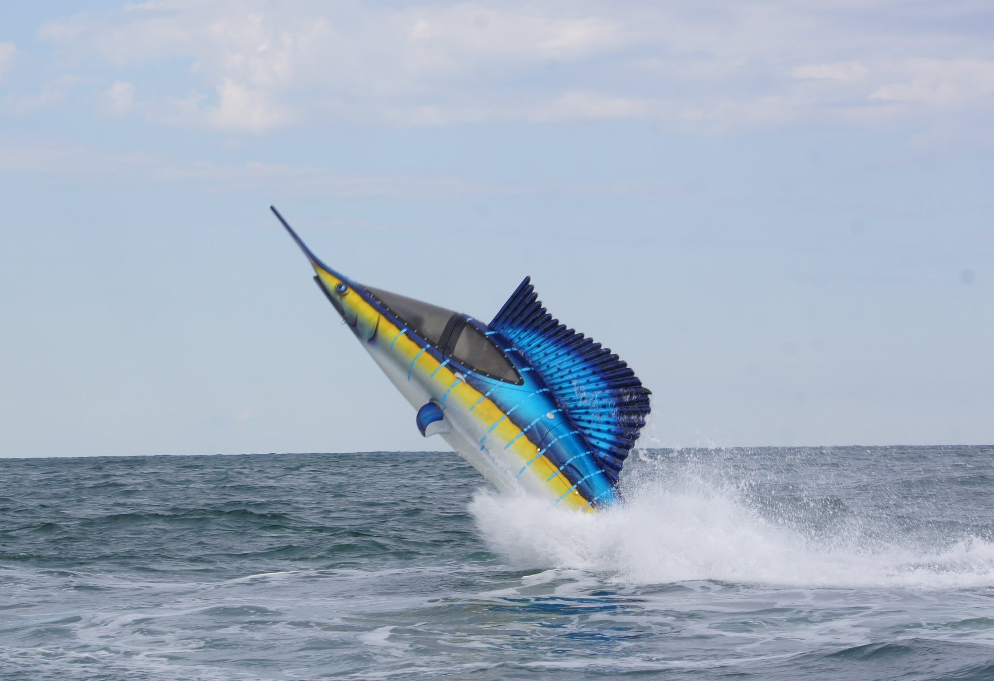 Crazy Submersible Watercraft Looks Like A Sailfish Lets