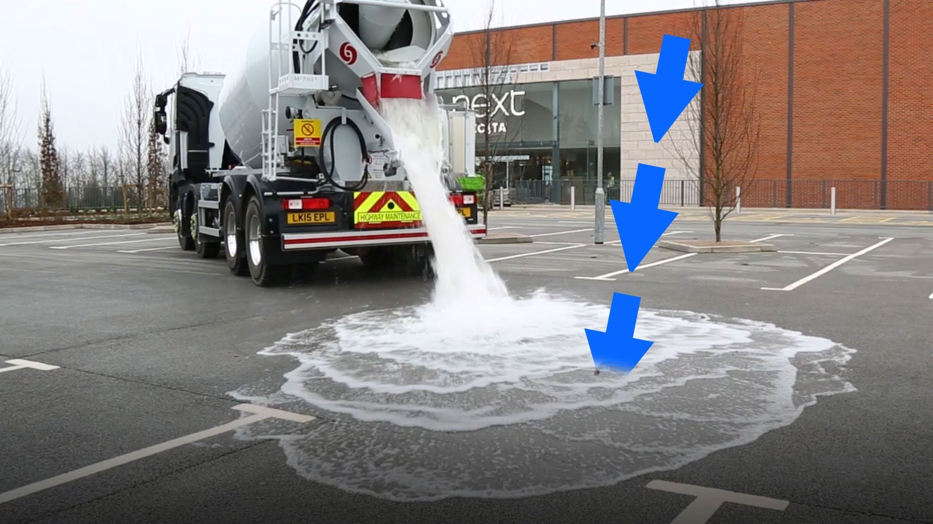 This Concrete/Asphalt Absorbs Water Like Magic