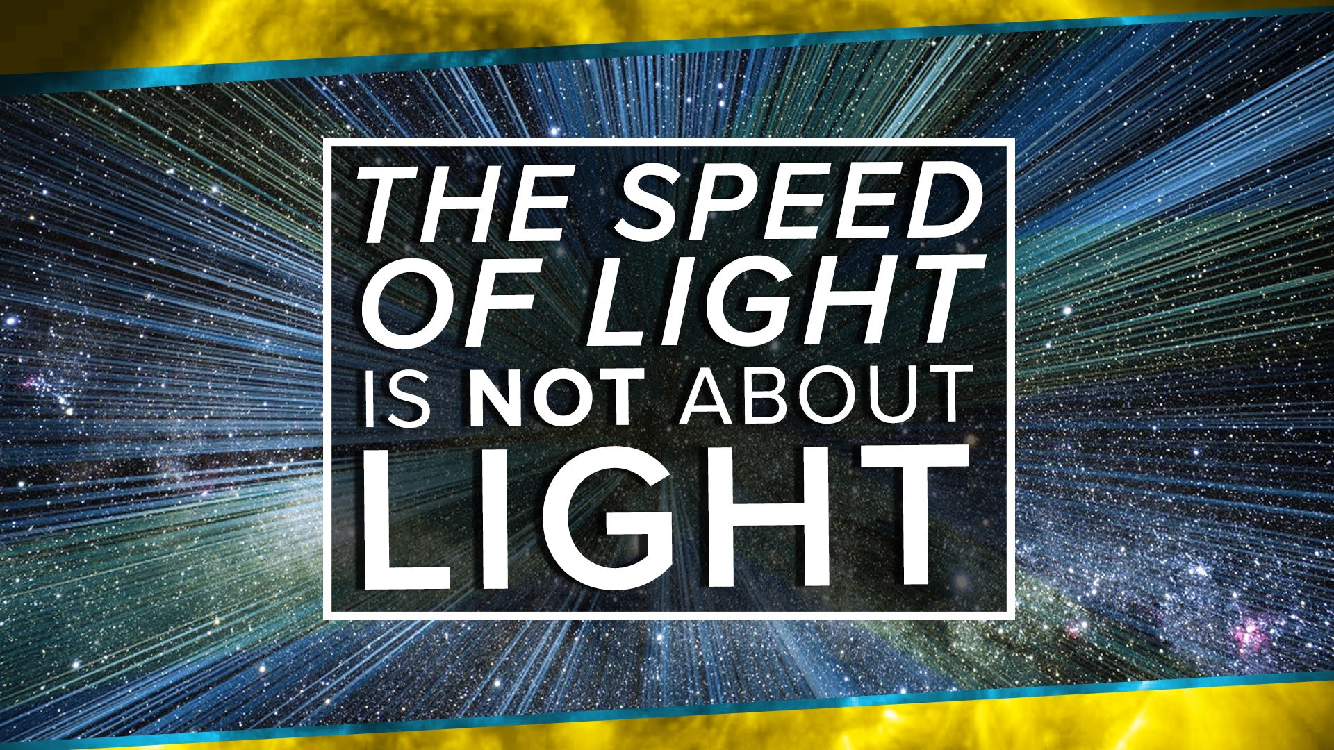 The Speed of Light is NOT About Light