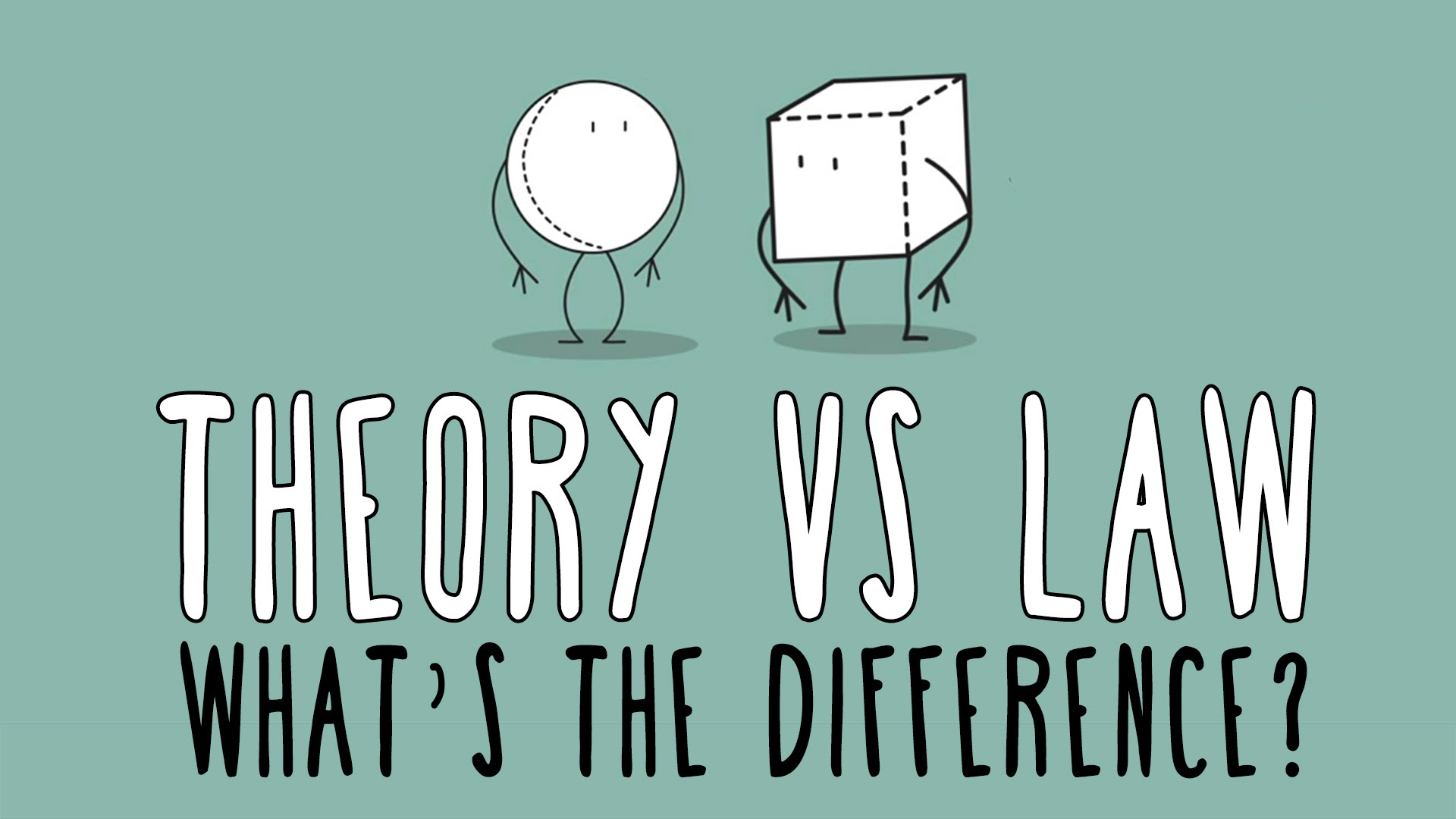What's the difference between a scientific law and theory?