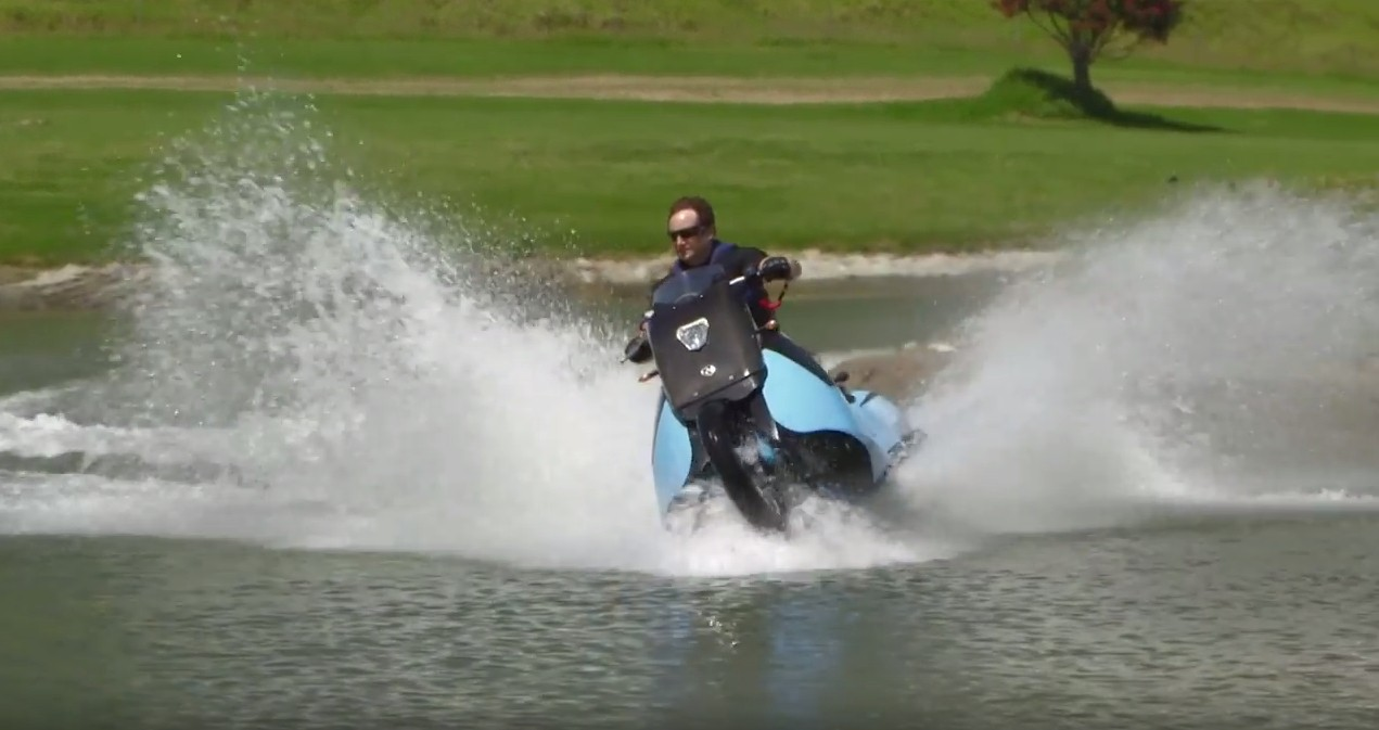 Gibbs Biski is a Motorcycle on Land and a Jet Ski in Water