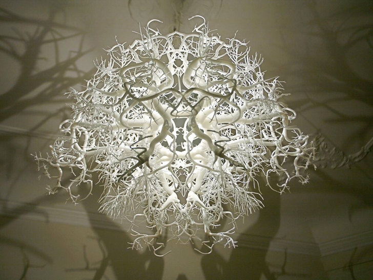 This Appears to be a Normal Chandelier But It Transforms Your Room Into a Fairytale Forest