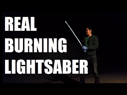 Real Burning Lightsaber