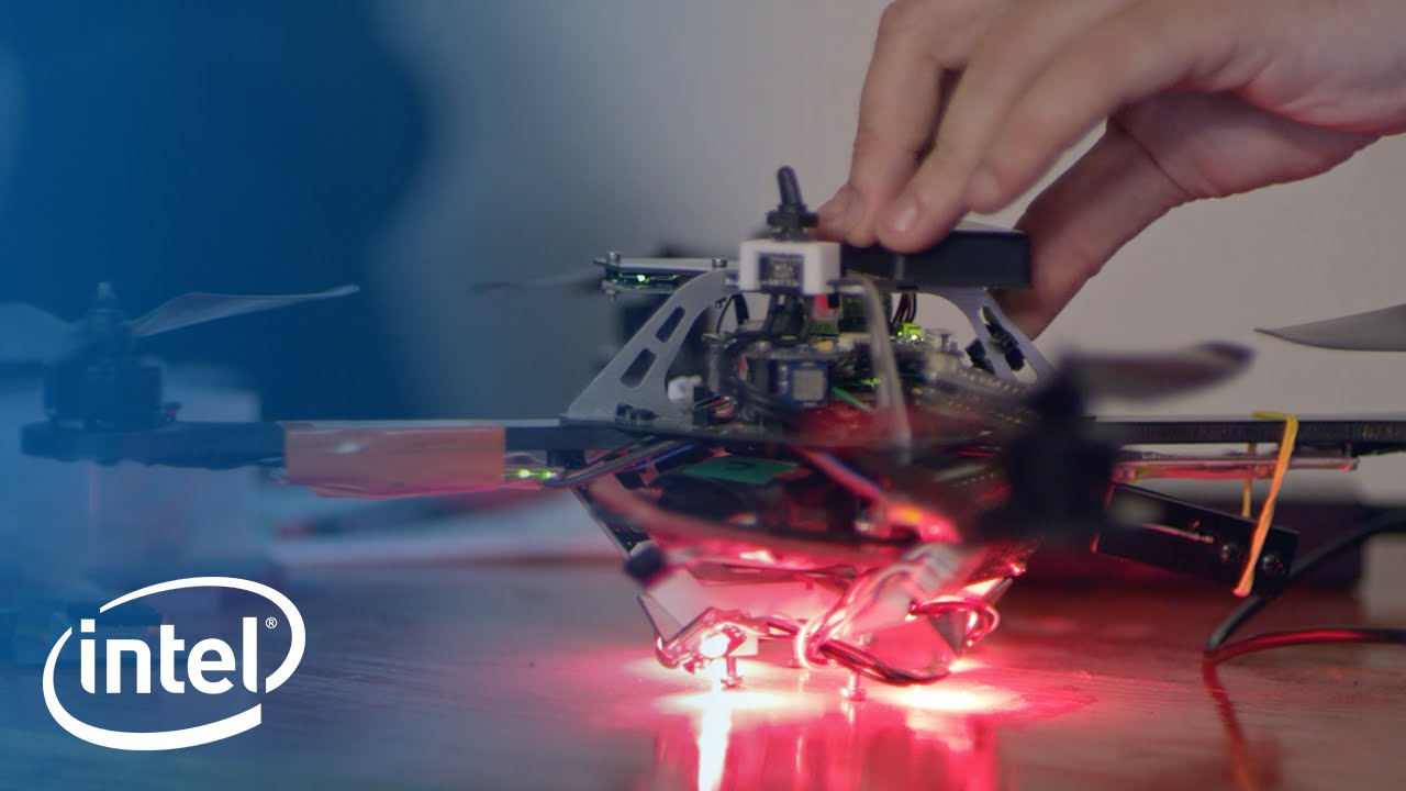 Intel have made a 3D light show using 100 drones