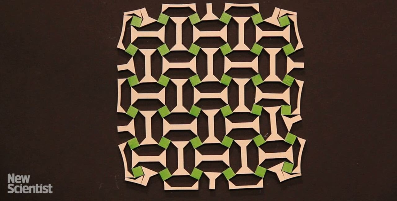 Material that can grow when stretched is inspired by Islamic art