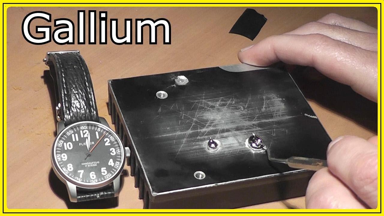 Reaction between aluminum and gallium