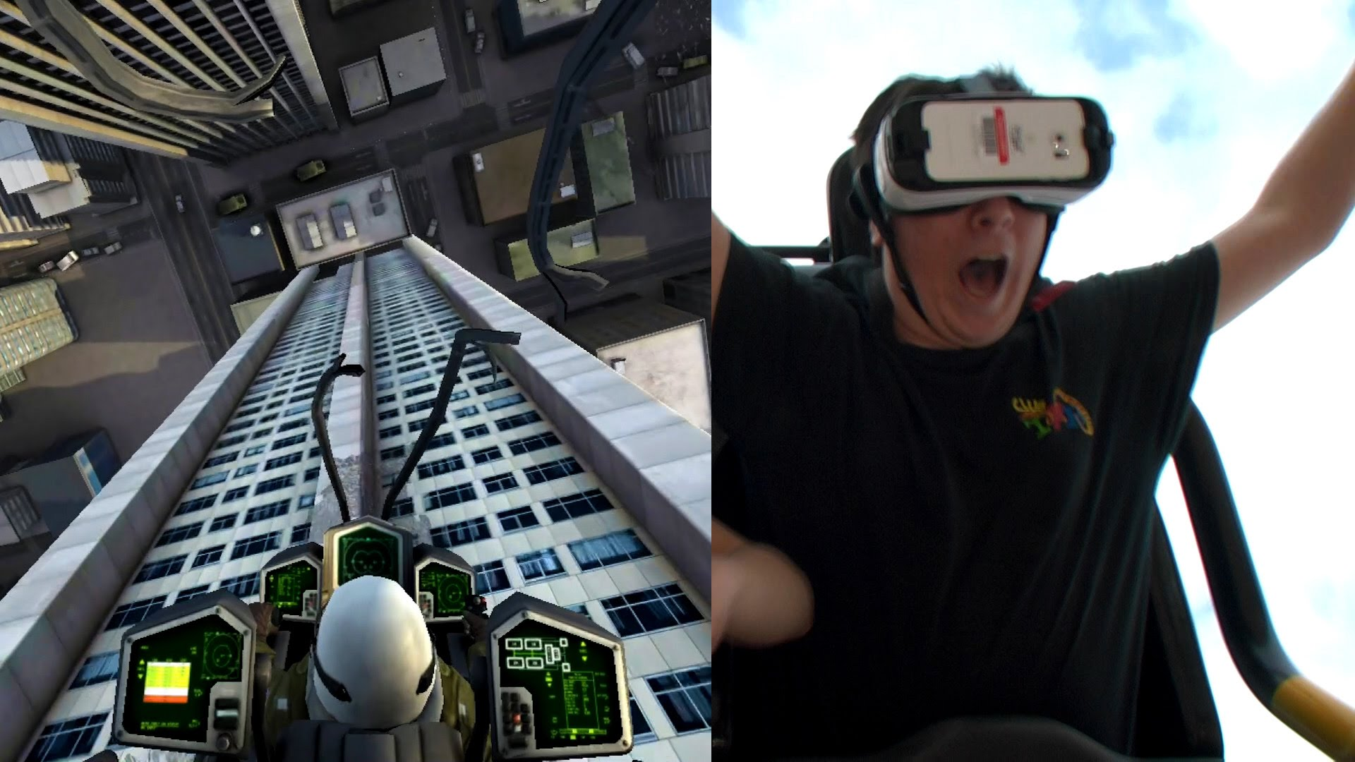 The first ever virtual reality rollercoaster in America