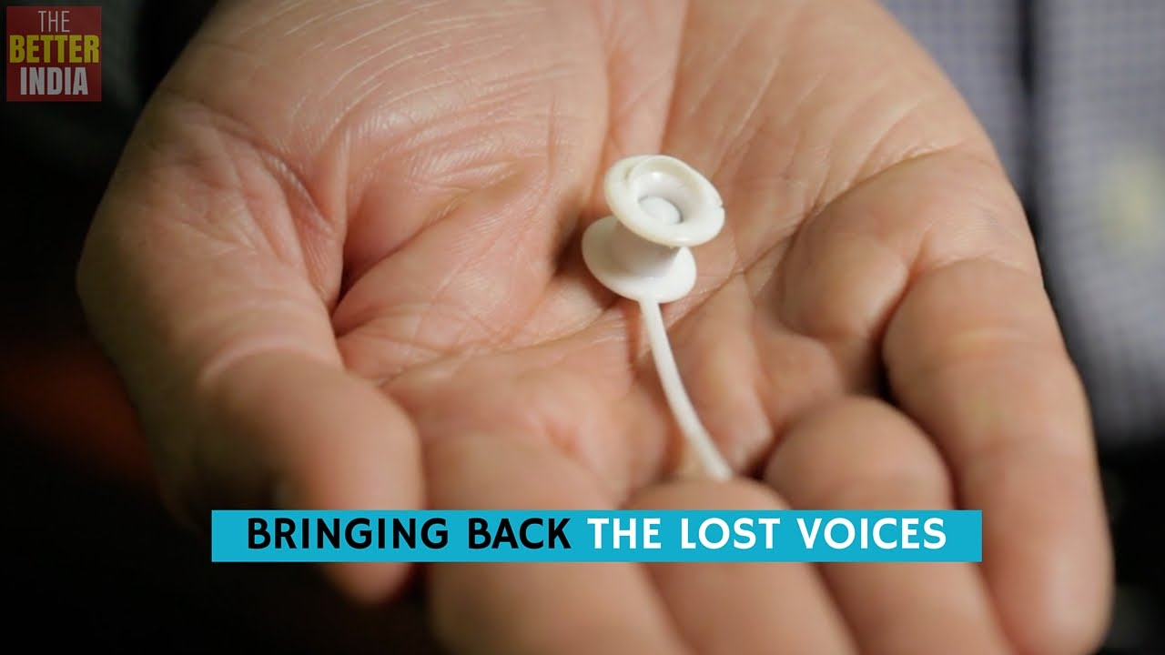 Indian oncologist invents artificial voice box for throat cancer