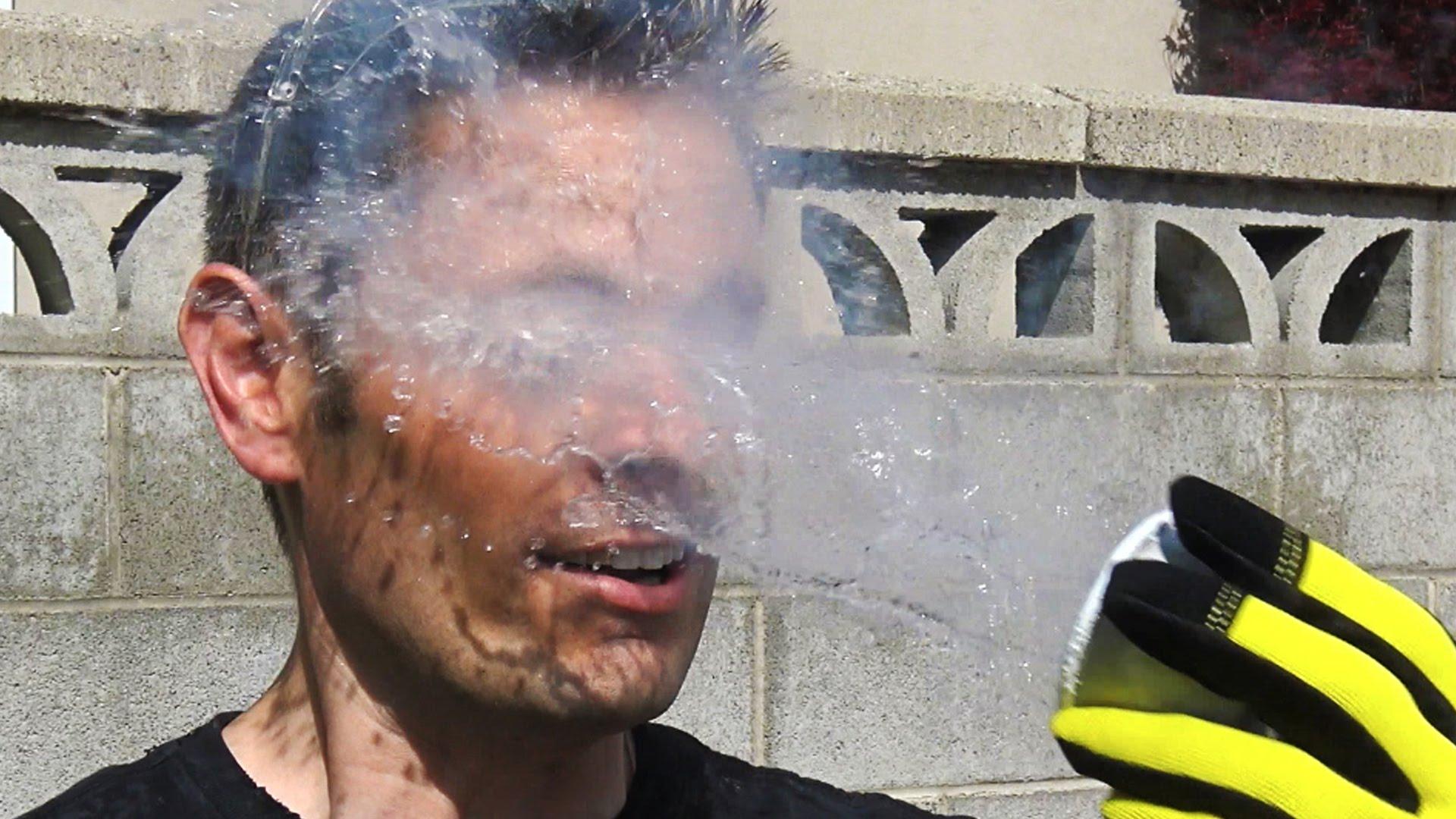 Liquid Nitrogen in the face