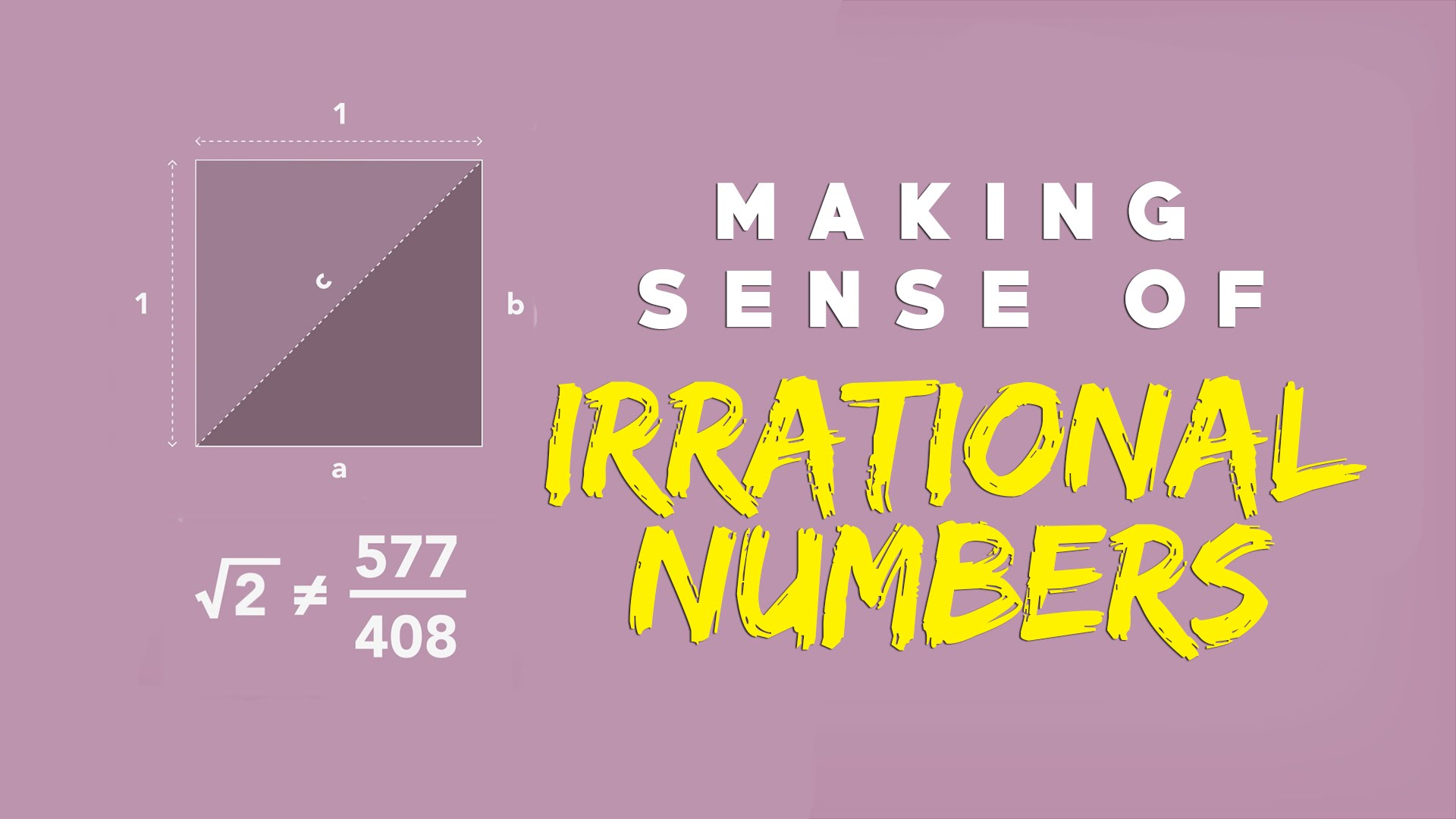 Making sense of irrational numbers