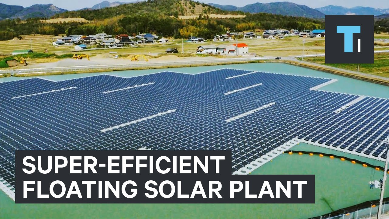 Super-efficient floating solar plant