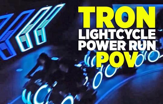 Tron Lightcycle Power Run ride at Shanghai Disneyland