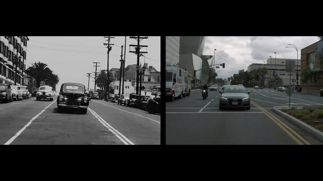 A side by side of Los Angeles, 70 years apart