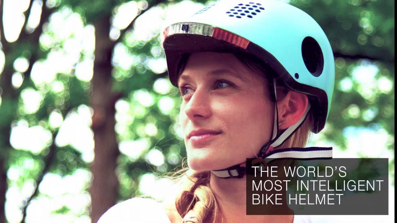 This is a smart bike helmet
