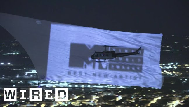 Breaking the World Record for Largest Aerial Projection Screen