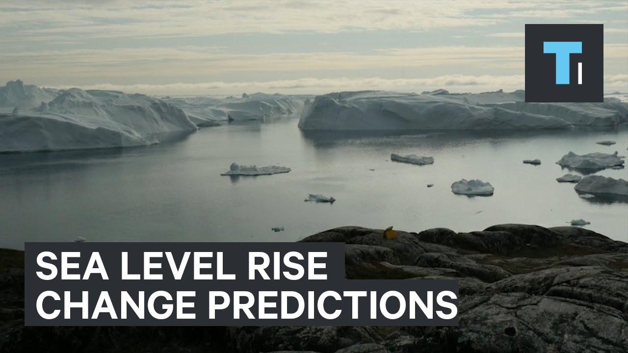 Sea level rise change predictions