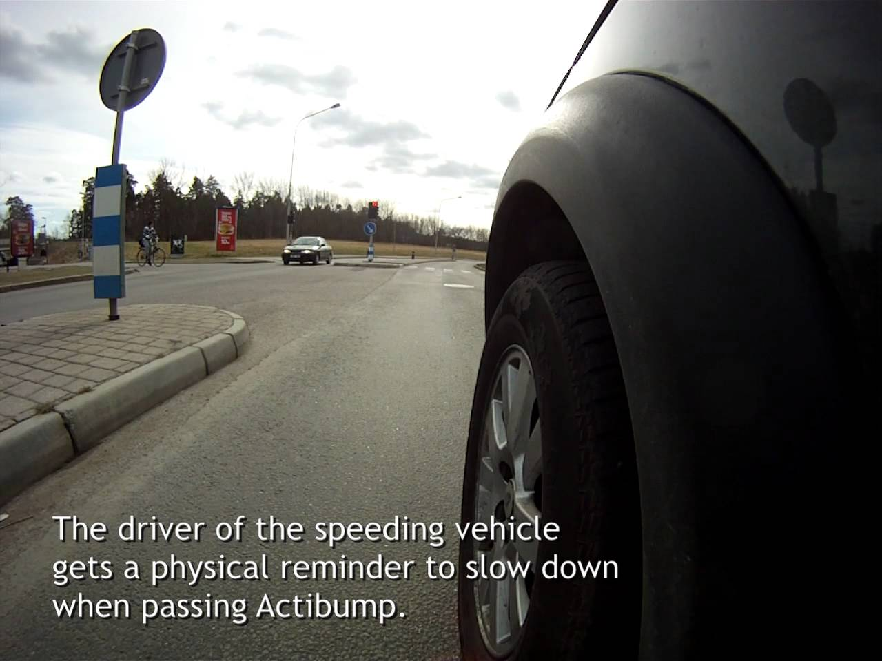 Swedish designed speed bumps are effective