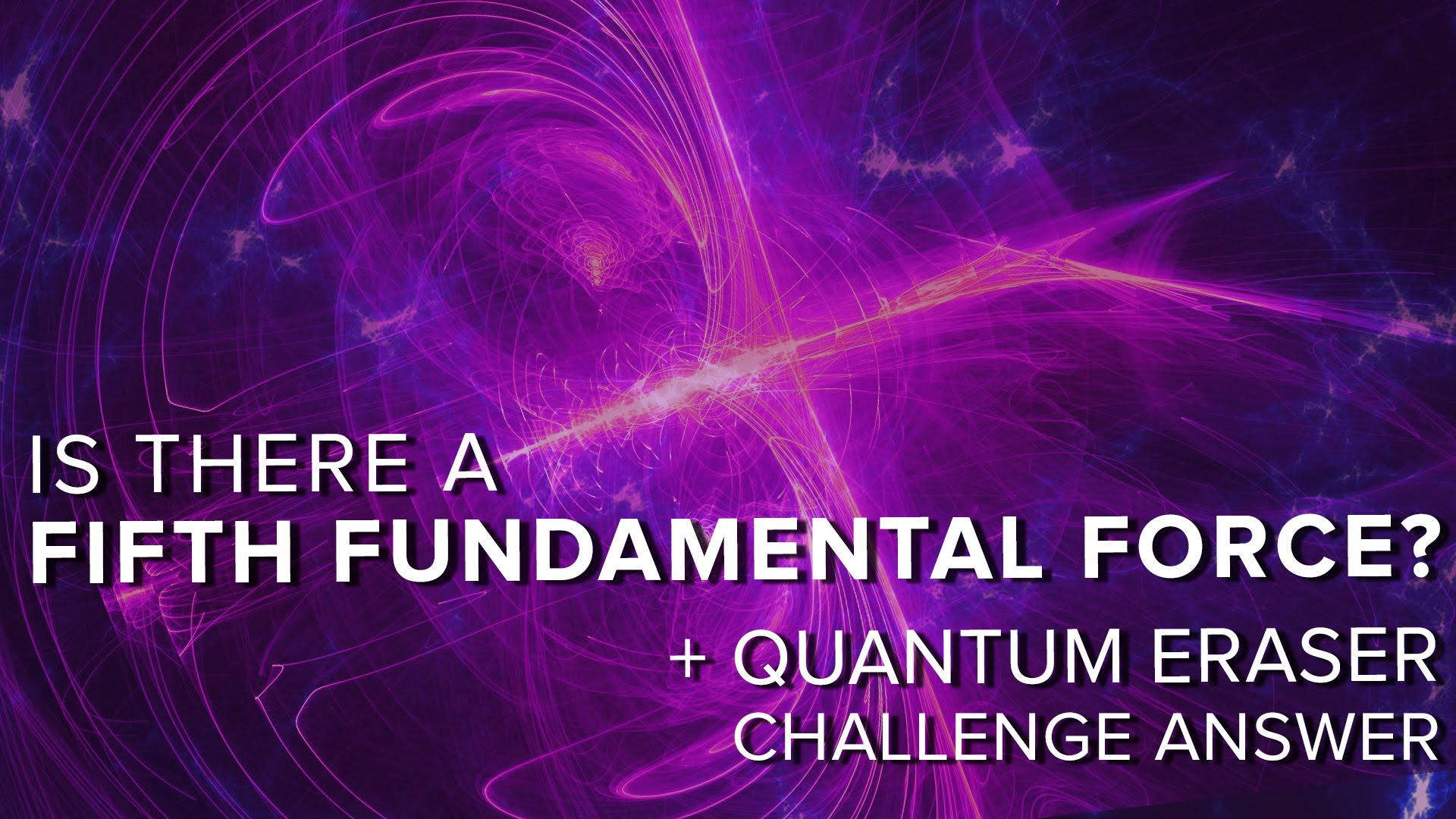 Is There a Fifth Fundamental Force?