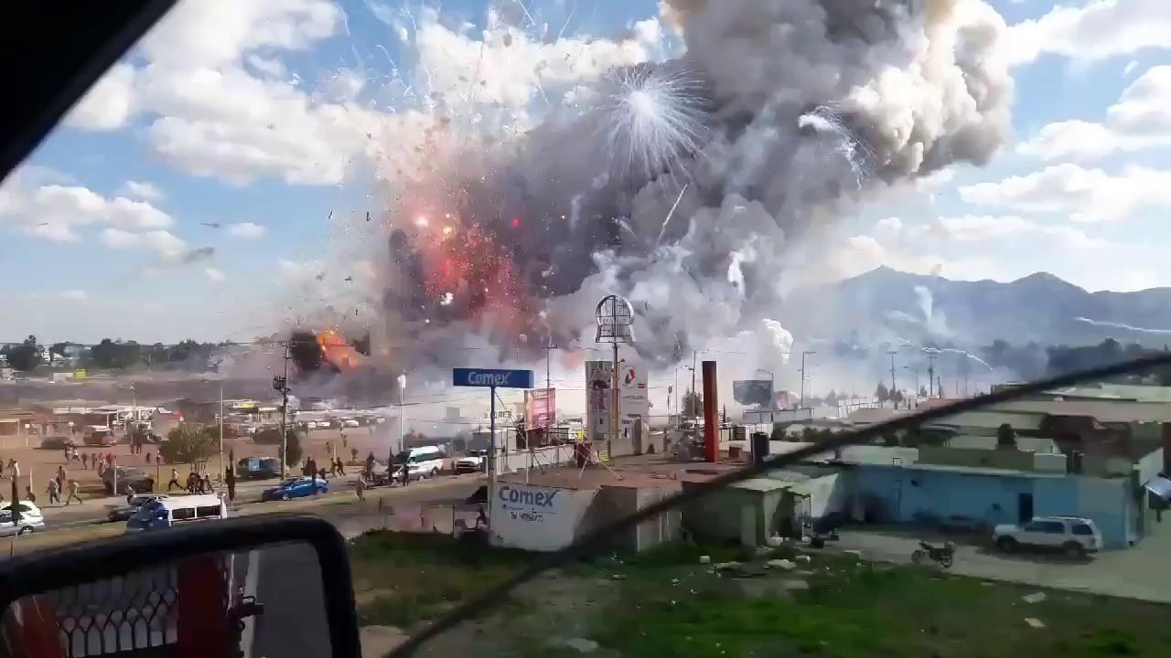 Ever Seen a FireWorks Factory Explode?