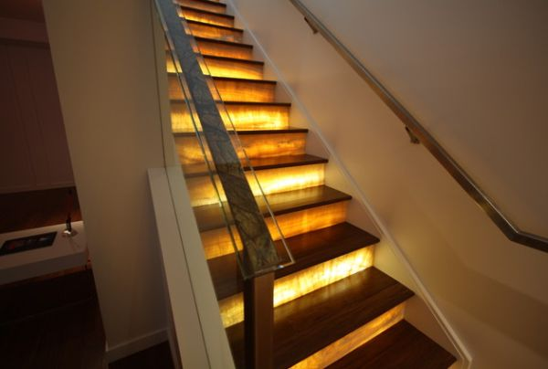 Transform Your Staircase With Lights and Images