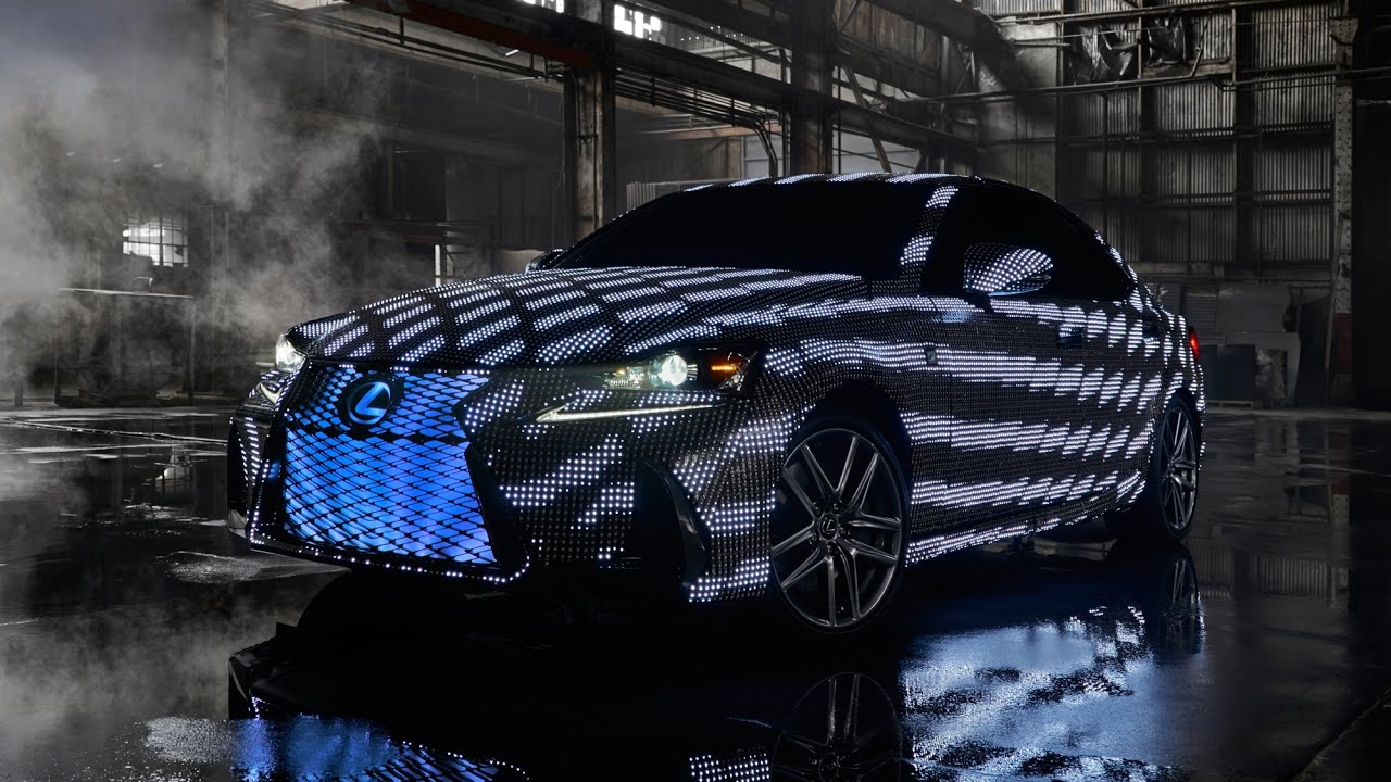 Lexus covered a car in 41,999 LEDs and called it the Lexus Lit