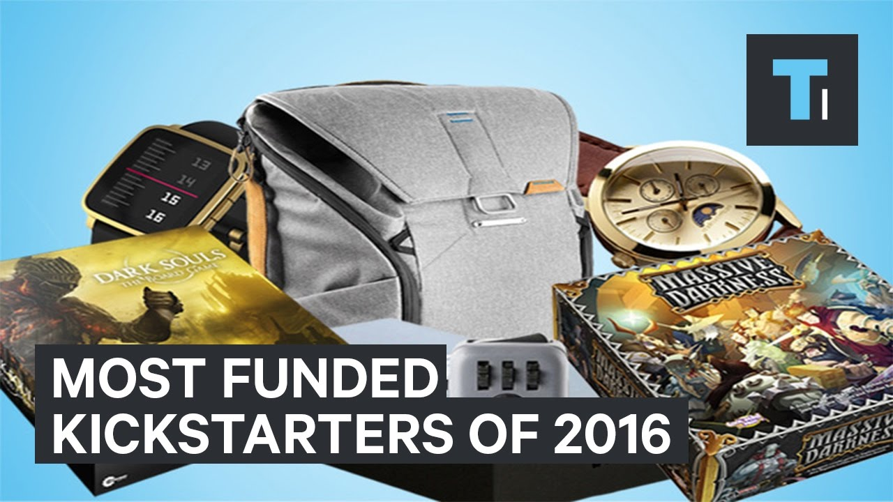 The most funded Kickstarters of 2016