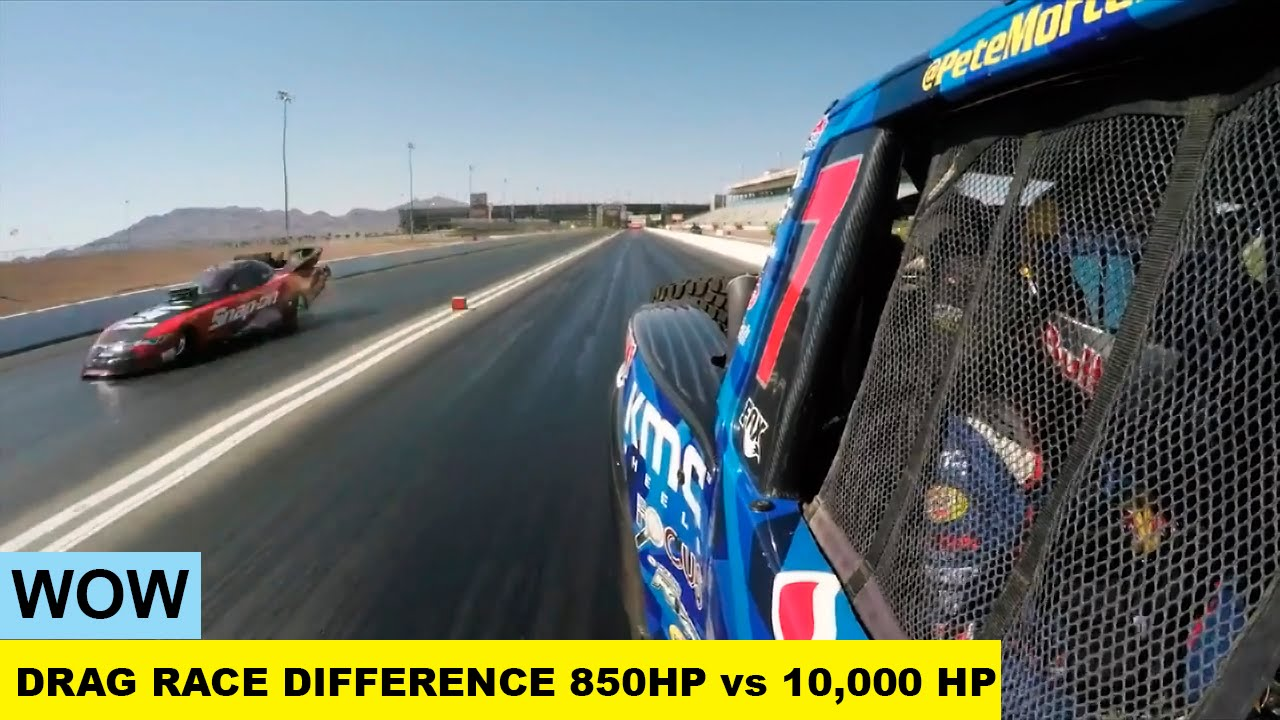 850 HP vs. 10,000 HP