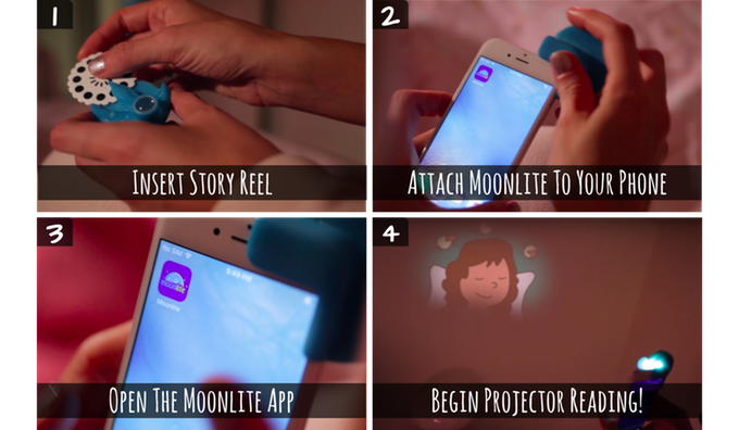 Moonlite: The First Bedtime Story Projector For Your Mobile Phone