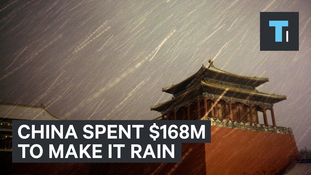 China spent $168 million to make it rain