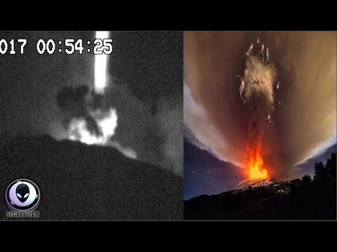Is This UFO Activity Over Mt. Etna?