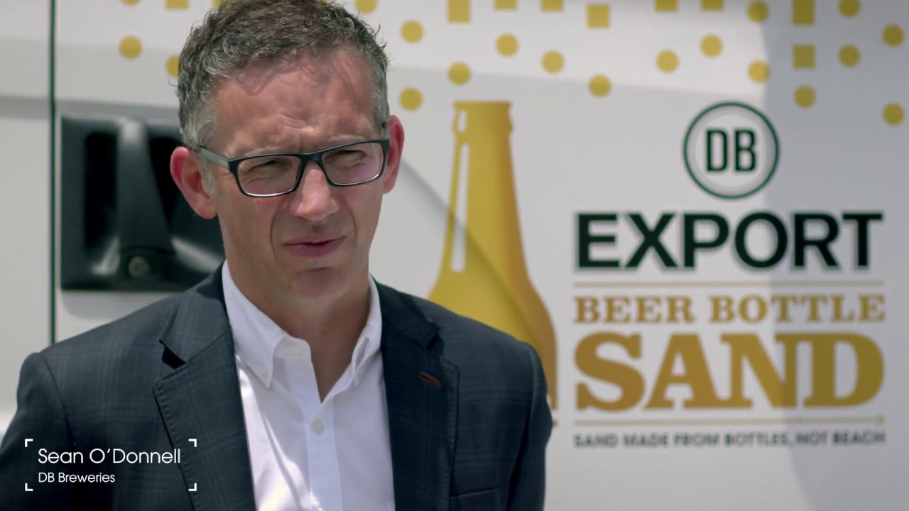 Machine instantly crushes beer bottles into sand