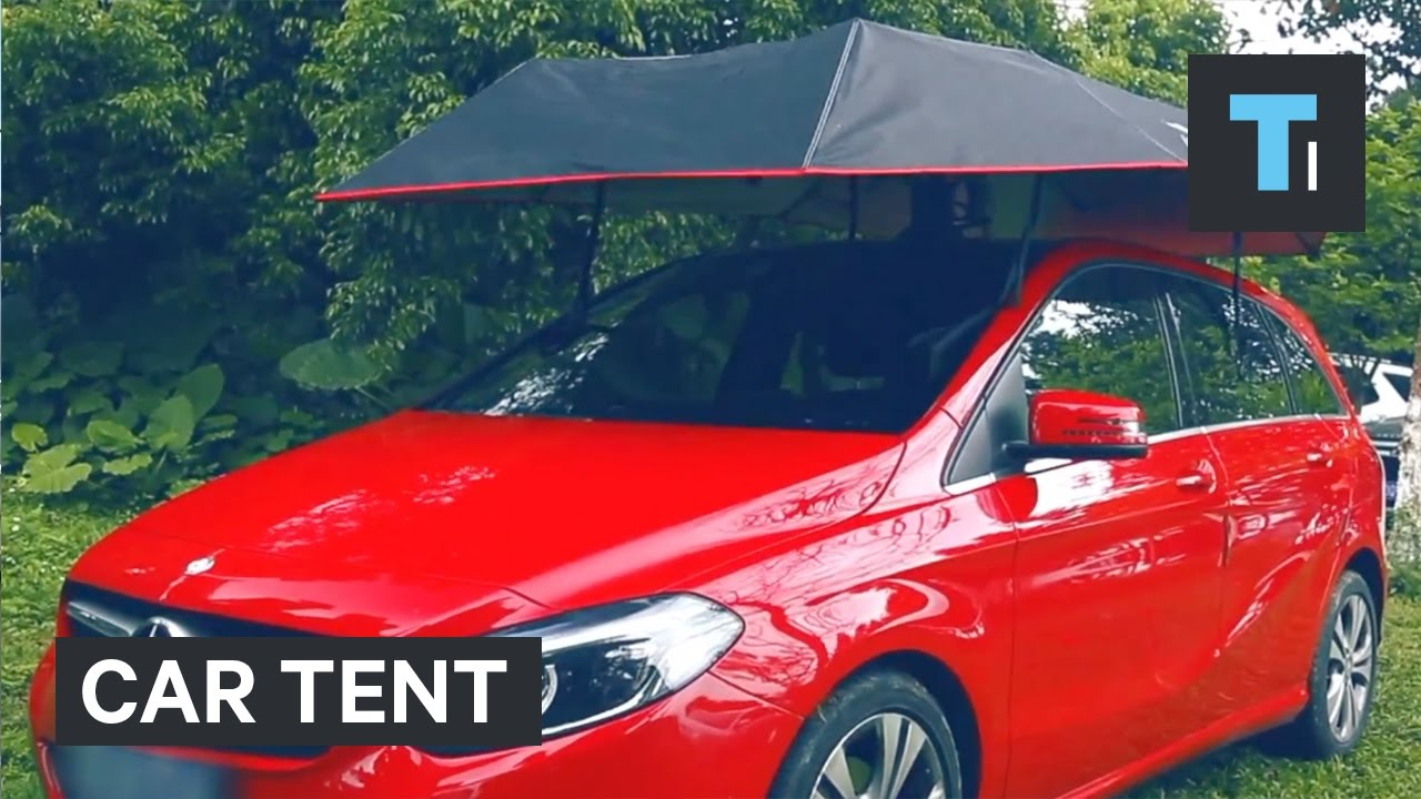 This car-tent will keep your ride protected from the elements