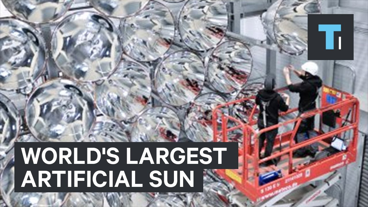 Germany Synlight turns on world's largest artificial sun