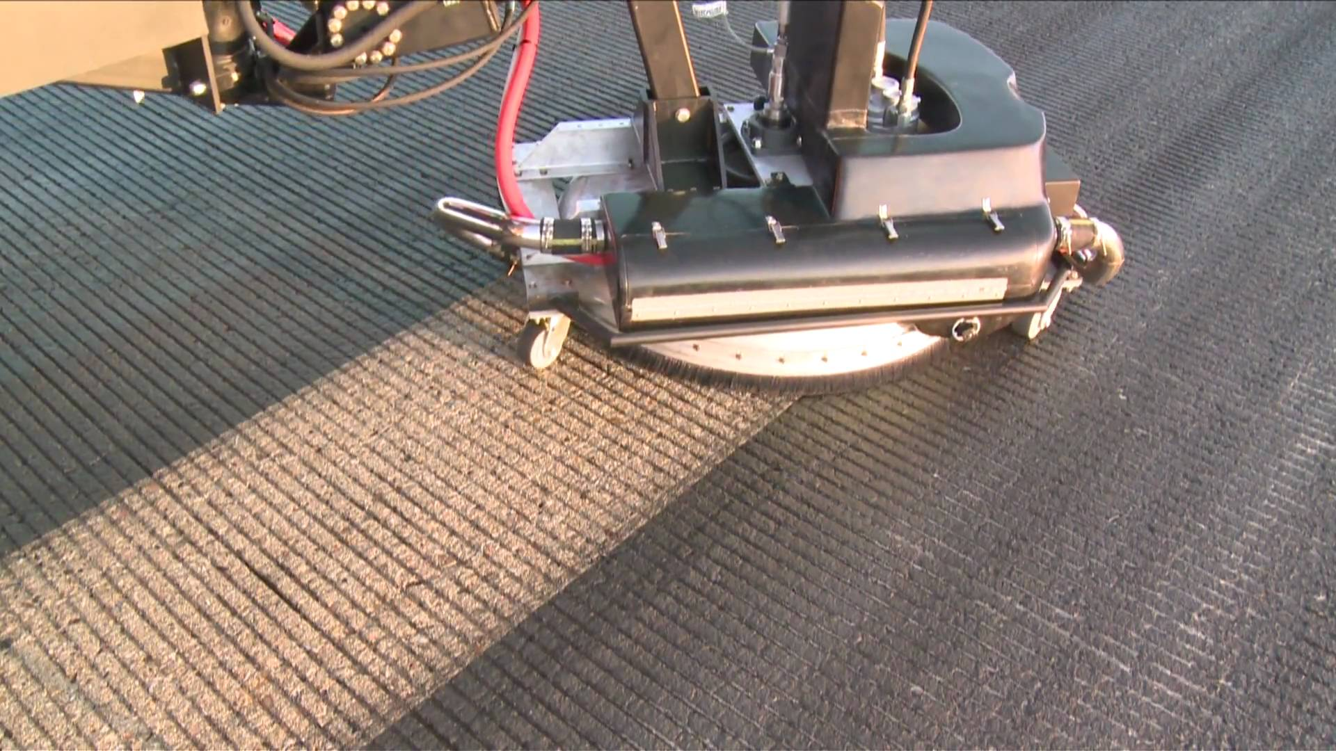Removing Rubber from Airport Runwas Is Satisfying to Watch