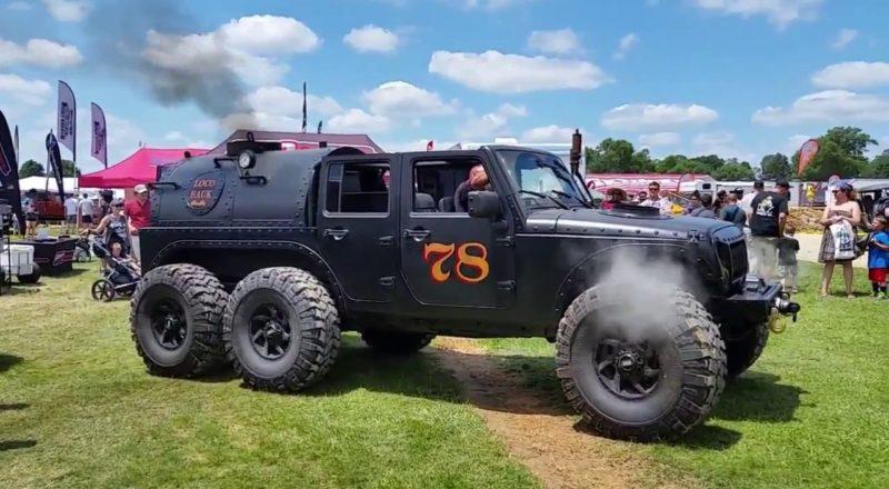 Steam-Powered Jeep Has 6-Wheels