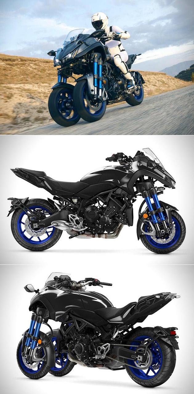 yamaha niken three wheeled motorcycle. Black Bedroom Furniture Sets. Home Design Ideas