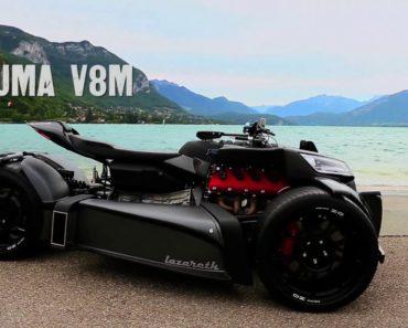 Wazuma V8M is a Stealthy V8-Powered Trike with 460-Horsepower