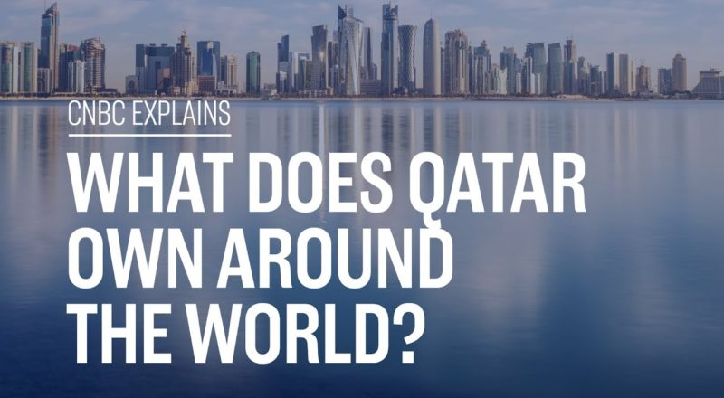 What does Qatar own around the world?