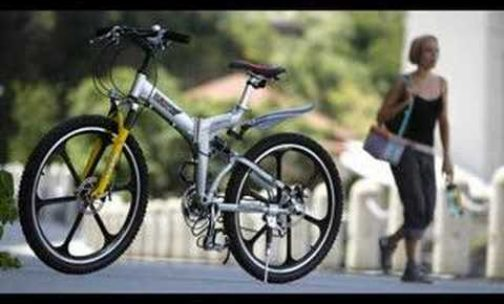 World's first dual suspension folding bike