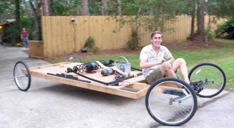 A Giant Mousetrap Powered Car