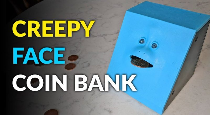 Creepy Face Coin Bank That Eats Your Change