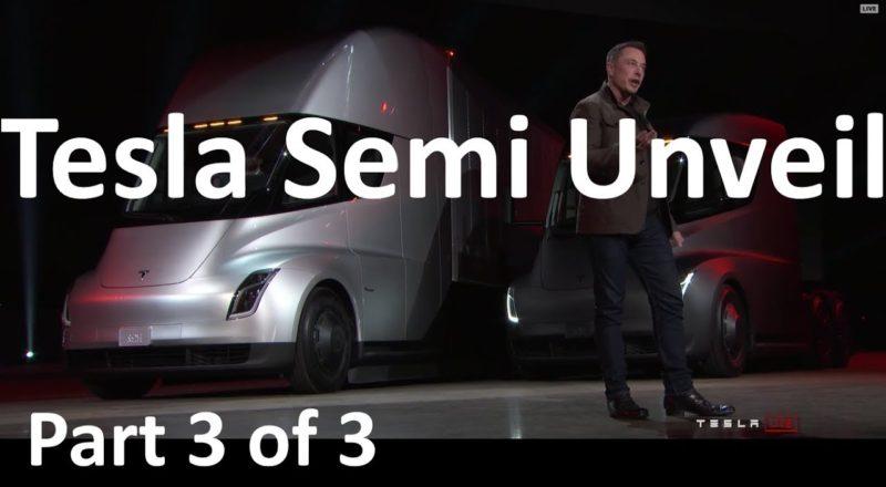 Elon Musk reveals Tesla Semi Truck