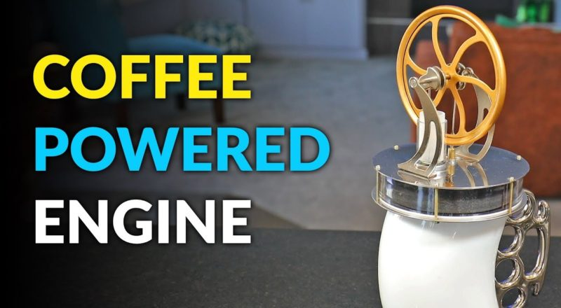 Heat Powered Engine Runs On Your Coffee Mug