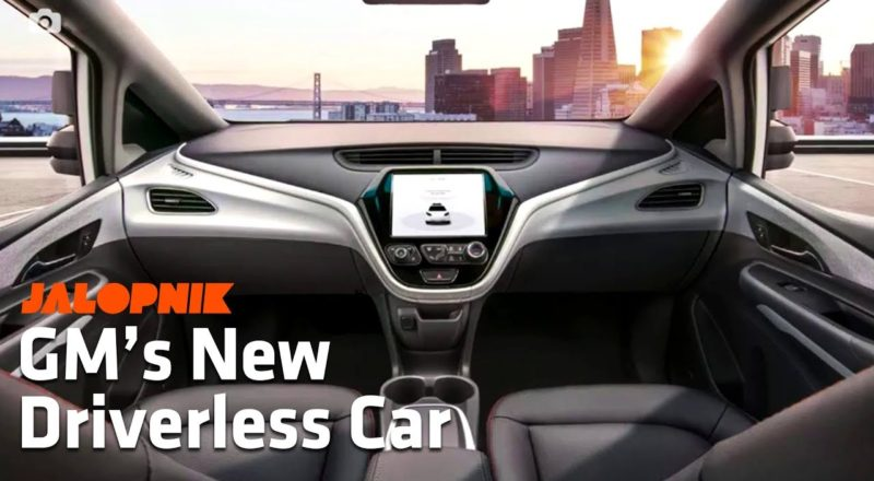 GM Unveils a Car Without a Steering Wheel